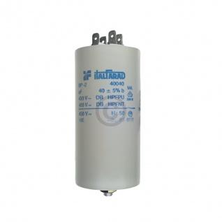 Kondensator 40, 00µF 450V Universal mit Steckfahnen und Befestigungsschraube