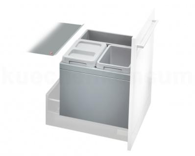 Hailo Abfallsammler 3631-53 XL Mülleimer 3fach Einbau 50cm Auszug Abfallsorter