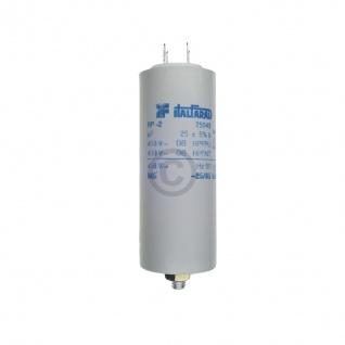 Kondensator 25, 00µF 450V Universal mit Steckfahnen und Befestigungsschraube
