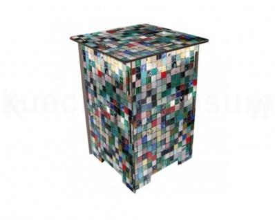 Tritt Hocker Mosaik Steighilfe Nachttisch Photohocker Sitzhocker Beistelltisch