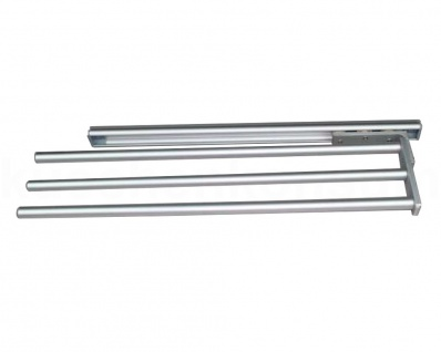 Handtuchhalter ausziehbar Handtuchauszug 465mm Aluminium Silber 3fach Handtuchablage Handtuchstange 170110