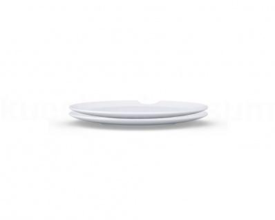 Speiseteller 2x rund 28cm m Biss TV Tassen weiß Porzellanteller Essteller Teller