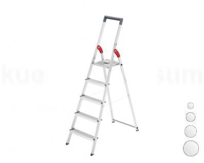 Hailo Leiter Alu-Sicherheits-Stufenstehleiter ProfiLine S 150 Haushaltleiter 3-8