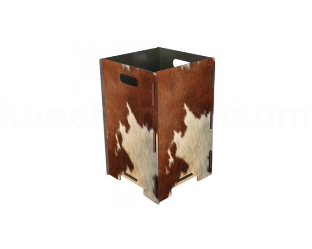 Kleinmöbel & Accessoires Papierkörbe & Mülleimer Papierkorb Kuhfell Mülleimer Abfalleimer Abfallbehälter Müllbehälter Mistkübel