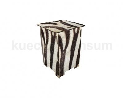 Nachttisch Neu Photohocker Tritt Hocker Zebra Beistelltisch Steighilfe