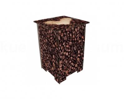 Werkhaus Photohocker Kaffeebohnen Beistelltisch Tritt Nachtschränkchen