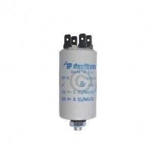 Kondensator 8, 00µF 450V Universal mit Steckfahnen und Befestigungsschraube