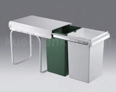 Wesco Abfallsammler 2x 15 Liter Profi-Double-Boy 30 Einbau Mülleimer Abfalleimer