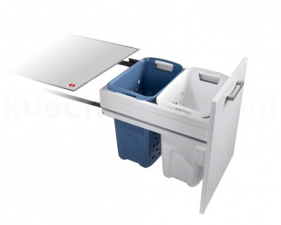 Hailo Laundry Carrier Slide Wäsche Sammler 50 er Unterschrank Auszug Wäschekorb