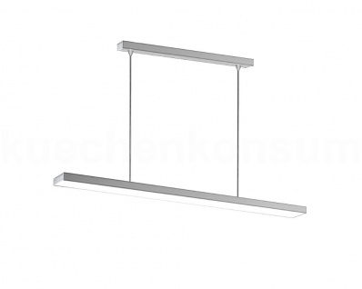 Thebo Pendelleuchte LED 150 Deckenleuchte 900 x 31 x 9 mm Edelstahl Panelleuchte