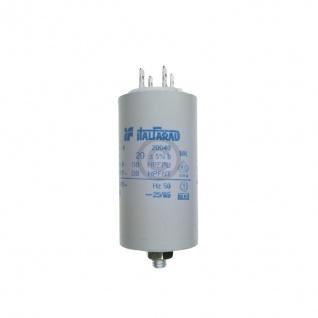 Kondensator 20, 00µF 450V Universal mit Steckfahnen und Befestigungsschraube