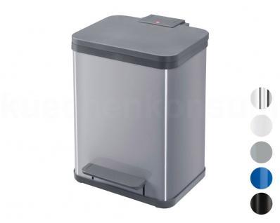 Hailo Tret-Abfalltrenner Profiline Solid Öko Duo 22 Mülleimer Abfallbehälter 2er