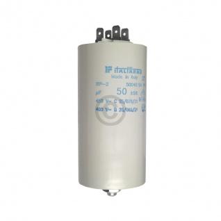 Kondensator 50, 00µF 450V Universal mit Steckfahnen und Befestigungsschraube