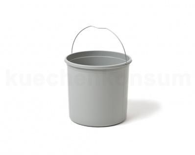 Hailo 12 Liter Ersatzeimer 1081529 hellgrau rund f Mono Abfallsammler Inneneimer