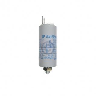 Kondensator 6, 00µF 450V Universal mit Steckfahnen und Befestigungsschraube