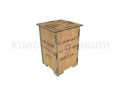 Hocker Nachttisch Photohocker Teekiste Beistelltisch Steighilfe Tritt Hockerbox