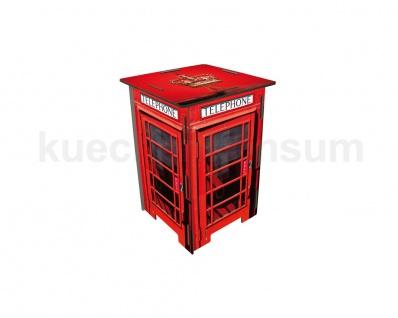 Telefonzelle London Photohocker Beistelltisch Steighilfe Tritt Hocker Nachttisch