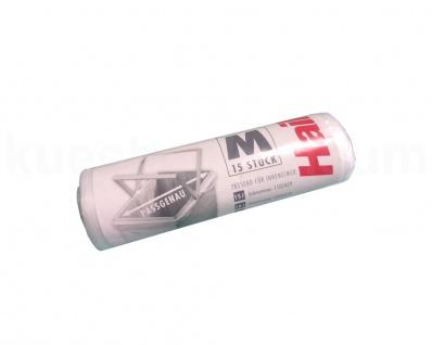 15 Müllbeutel M PE Beutel Müllsack mit Griff für Hailo Abfallsammler transparent