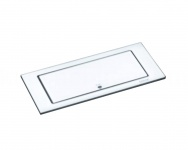 EVOline Backflip drehbare Steckdose Glas Weiss Arbeitsplatte PowerPort 2fach USB