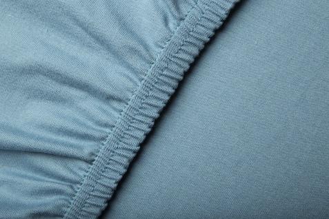 Bella Donna 90-100x190-220x25 cm Spannbetttuch 0180 Azur Jersey 97% Baumwolle 3% Elastan - Vorschau 4