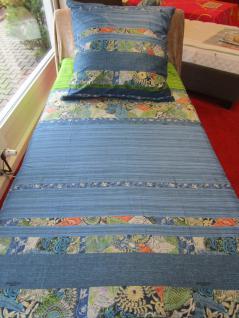 Bettwäsche 155x220 Goa V1 von Bassetti Mako-Satin-Bettwäsche Einzel-Garnitur - Vorschau 3