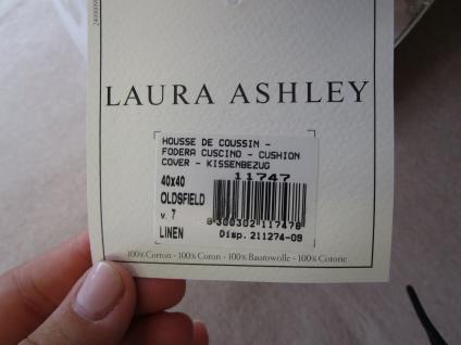 Kissenbezug 40x40 Oldsfield V7 Linen von Laura Ashley mit Reißverschluß - Vorschau 5