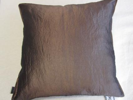 Kissenbezug Garcia 50x50 cm für Sofakissen Farbe Schokobraun von Proflax