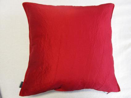 Kissenbezug Garcia 50x50 cm für Sofakissen Farbe ROT - Vorschau 1