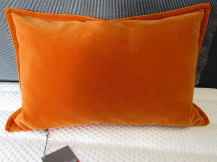 Kissenbezug Sam 27x43 cm Baumwoll-Velours für Dekokissen Farbe cognac von Proflax