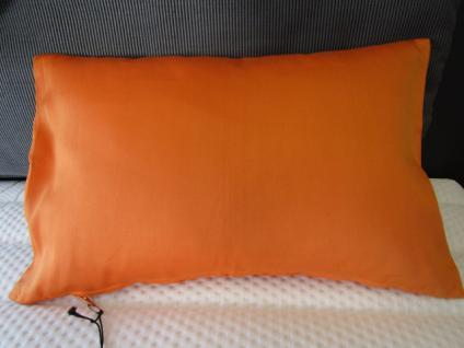 Kissenbezug Roma 27x43 cm reine Baumwolle für Dekokissen Farbe orange/cognac von Proflax