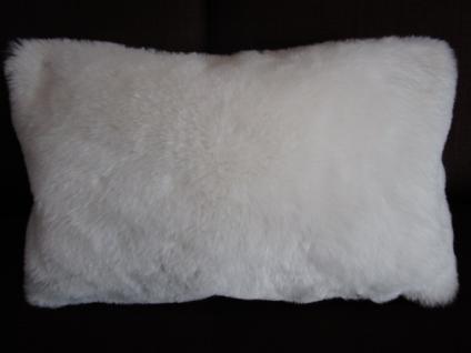 Kissenbezug 27x43 cm Snow Dekokissen Flauschkissen Farbe ecru von Proflax