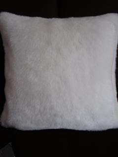 Kissenbezug 40x40 cm Snow Dekokissen Flauschkissen Farbe ecru von Proflax