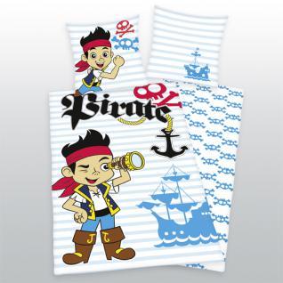 """Jake Bettwäsche 135x200 + 80x80 cm """"Pirate Jake"""" 4463/41 050"""