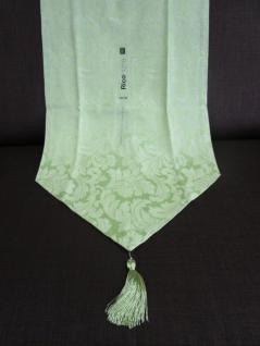 Tischläufer ca. 45x140 cm Motiv Tanne Farbe Grün mit Jaquard-Muster von Rico