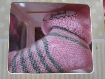 Baby Erstlingssocken Newborn Söckchen verschiedene Farben 0-6 Monate, in Geschenkverpackung - Geschenk zur Geburt / Taufe - Vorschau 5