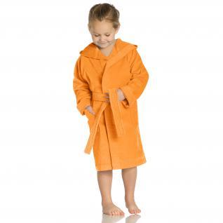 """Bademantel für Kinder """"Texie"""" von Vossen 100% Baumwolle Farbe 246 nectarin/orange Größe 116"""