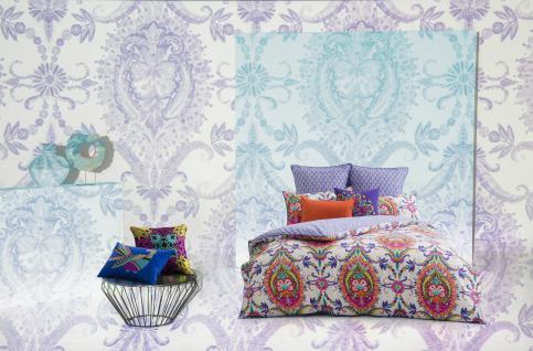 Bettwäsche 135x200 cm Layla, multicolor von KAS mit Keder, 100% Baumwoll-Bettwäsche Garnitur