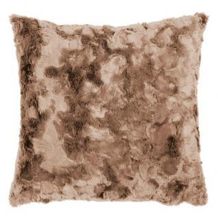 Sofakissen Fellkissen Hülle (Imitat) Bardot Kuschelkissen Uni 45x45 cm Farbe nougat (beige) von Pad