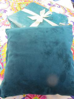 Kissenhülle Uni 40x40 cm in der Farbe petrol von pad - Vorschau 1