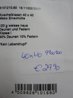 Kissenfüllung 40x40 cm für Bett, Deko- und Sofakissen - Vorschau 3
