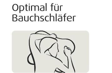 Ombracio Tempurkissen für Bauchschläfer, Schlafkissen - Vorschau 5
