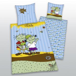 """Olchis Bettwäsche 135x200 + 80x80 cm 4412 51.050 """" Die Olchis"""" von Herding"""