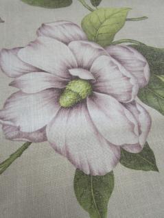 Tischläufer Blumenmotiv 45x150 cm von Rico Design Leinenoptik