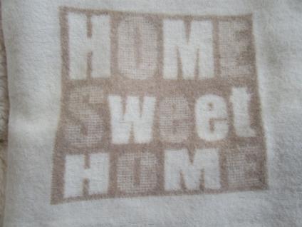 """Bezug für Wärmflasche 23x32 cm rohweiß """" Home Sweet Home"""" kuschliger Fleece von David Fussenegger"""