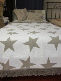 Wohndecke Star Blanket mit Sternen 150x200 cm Farbe nougat (beige) von Pad