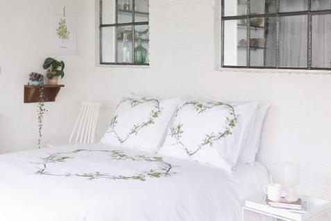 Bettwäsche 200x220 Blossom 700695 von Walra 100 % Baumwolle Garnitur mit Kissen Hochzeitsbettwäsche