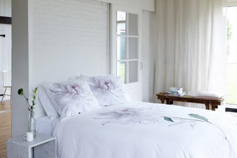 Bettwäsche 155x220 Peony 700415 von Walra 100 % Baumwolle Garnitur mit Kissen Hochzeitsbettwäsche - Vorschau 2