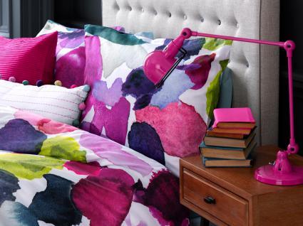 Bettwäsche 155x220 von Bluebellgray Abstract 100 % Baumwolle Satin Garnitur inkl. 1 Kissen 80x80 - Vorschau 2