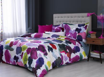 Bettwäsche 135x200 von Bluebellgray Abstract 100 % Baumwolle Satin Garnitur inkl. 1 Kissen 80x80