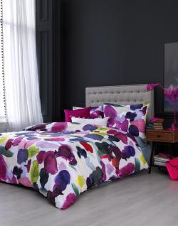Bettwäsche 155x220 von Bluebellgray Abstract 100 % Baumwolle Satin Garnitur inkl. 1 Kissen 80x80 - Vorschau 4